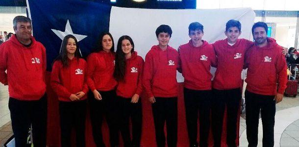 Chile finalizó octavo y noveno en el Sudamericano de 14 años