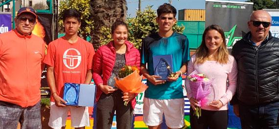 Con los títulos de Boulier y Vásquez finalizó La Serena ITF Open