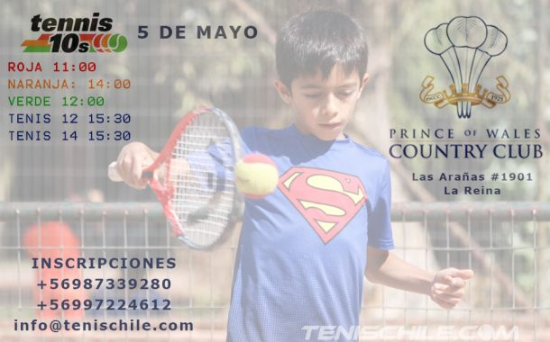 Tenis 10 este Sábado 5 en el Prince Of Wales Country Club