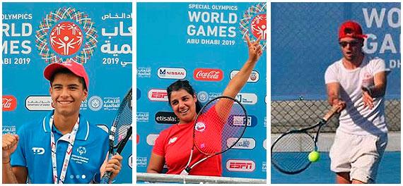 El Tenis nacional se luce en el Mundial de Verano Abu Dhabi de Olimpiadas Especiales