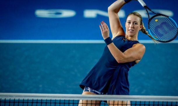 Alexa Guarachi junto a Erin Routliffe perdieron en cuartos de final del WTA de Nottingham