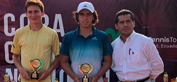 Benjamín Torres conquistó el cuadro duplas del J5 de Guayaquil