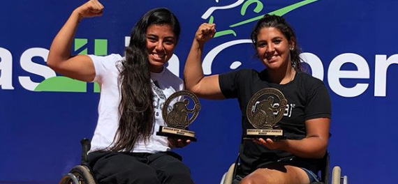 Macarena Cabrillana se consagró campeona duplas en Brasil