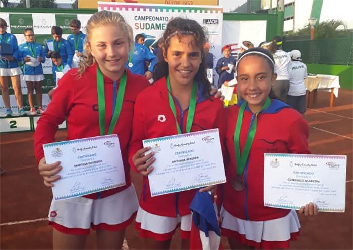 Campeonas del Sudamericano y su paso por el Tenis 10 de Tenischile