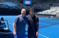 Garin compartió entrenamiento con Agassi y Dimitrov