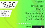 Este fin de semana los torneos de tenis son en Concón