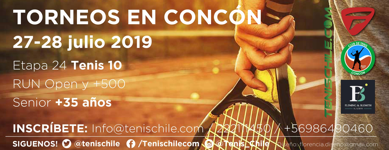 Los torneos de esta semana se juegan en el Club de Tenis Concon