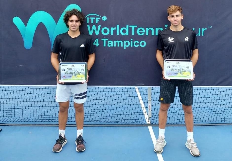 Salieron del tenis 10, los dos campeones chilenos del ITF 4 de México