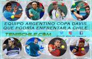 Cuatro bajas presentará Argentina en Copa Davis contra Chile
