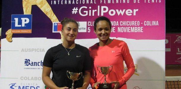 Bárbara Gatica fue vicecampeona duplas de la Copa LP Chile presentada por IND