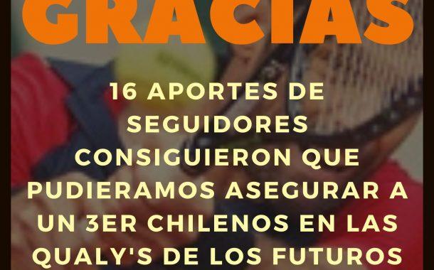 Gracias!!! Un 3er chileno podrá jugar la qualy de los futuros en Colombia