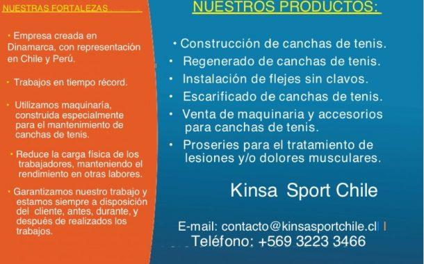 Llegó Kinsa Sport a Chile