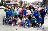 Alumnos del Club de Tenis de Coyhaique compartieron con Fernando González y Nicolás Massú