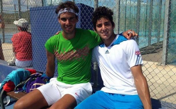 Rafael Nadal entrenó con Christian Garín de cara a su participación en Wimbledon
