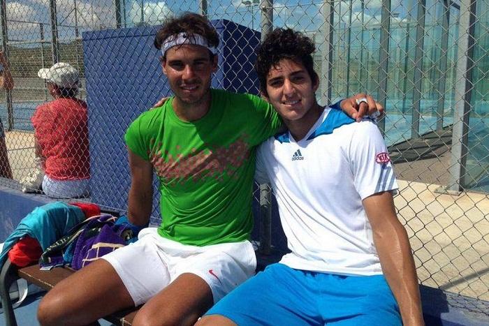 Rafael Nadal elogió al chileno Christian Garín: