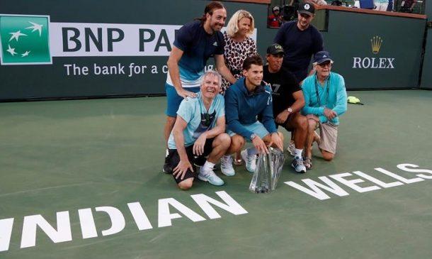 Dominic Thiem llenó de elogios a Nicolás Massú tras coronarse en Indian Wells:
