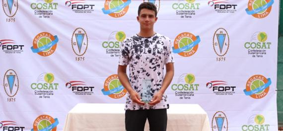 Nicolás Villalón se quedó con el título singles del Regatas Bowl 2019 en 16 años