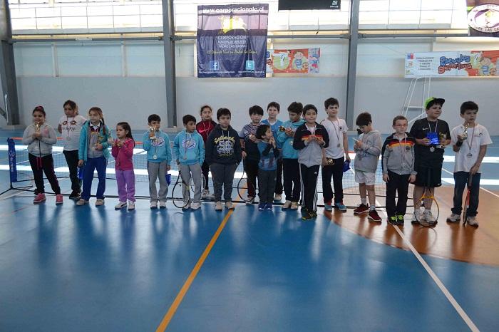 Terminó el campeonato regional de minitenis