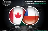 Chile jugará de visita ante Canadá por Copa Davis