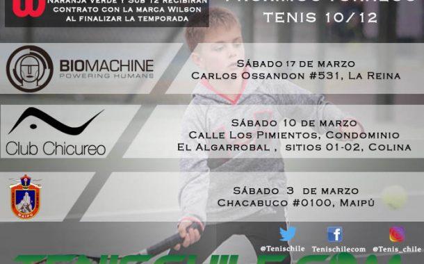 Próximos torneos Tenis 10/12