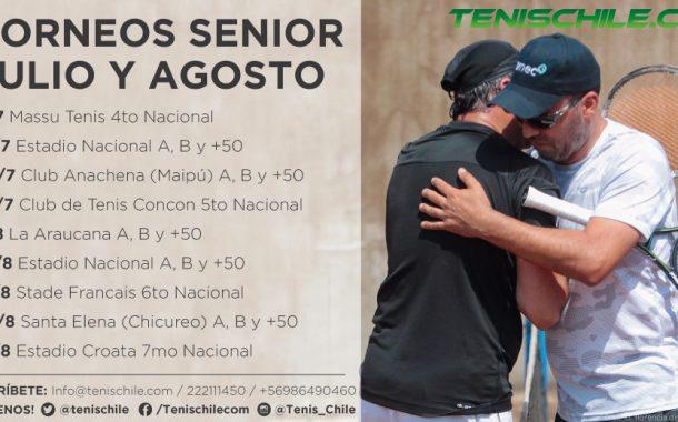 Torneos Senior Julio y Agosto