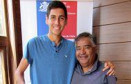 Alejandro Tabilo visitó la Federación de Tenis de Chile