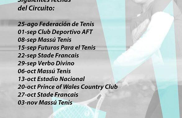 Torneos de tenis 10-12 del 2° semestre
