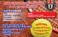 Torneo de tenis en la Universidad de Chile